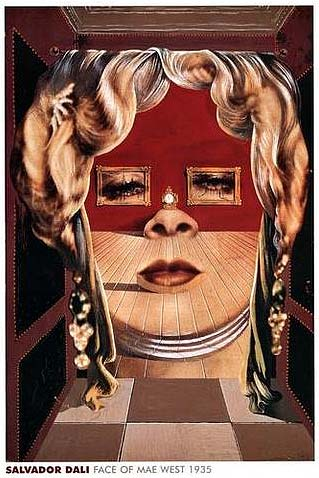 the face of mae west which may be used as an apartment salvador dali 1935