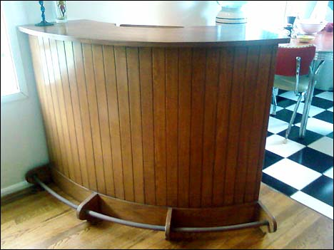 mid-century bar remodel