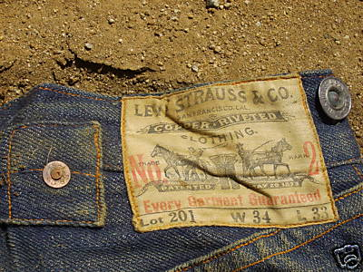 vintage levis from the 1890s