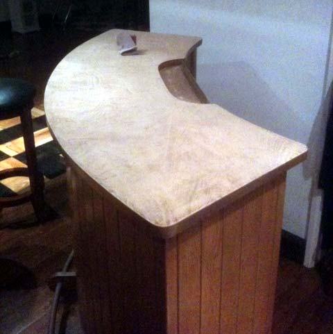 bar top bartop refinish re-finish