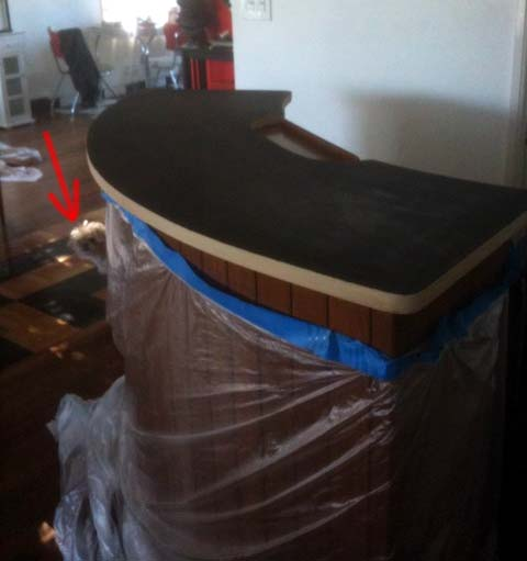bar top bartop refinish re-finish squeakles squirks squoiselle shirley swirlins box factor