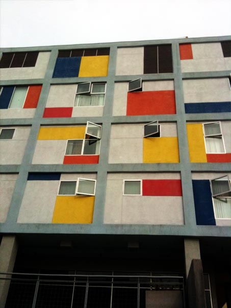 apartment building piet mondrian