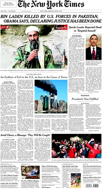 ny times newspaper osama bin laden