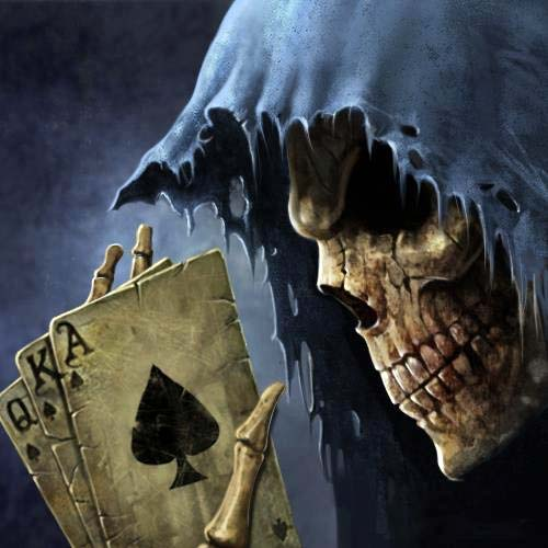 rip greamer grim reaper cards queen king ace