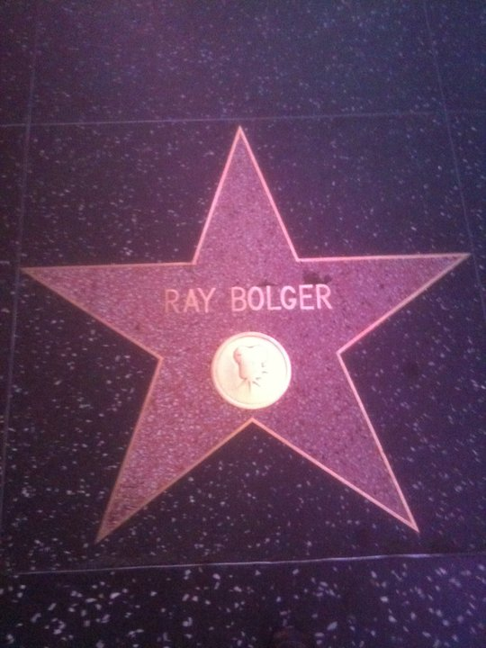 ray bolger scarecrow wizard of oz hollywood blvd boulevard walk of fame star