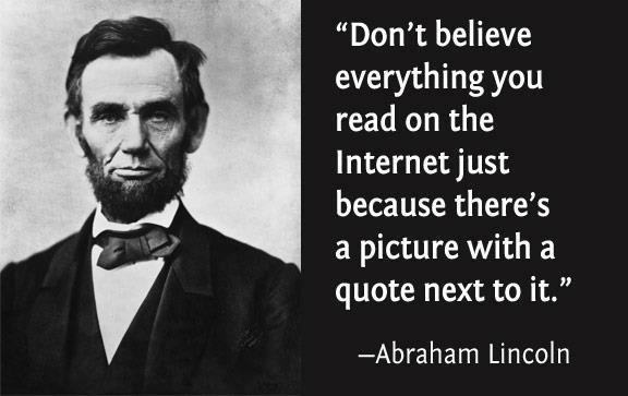 abraham lincoln internet