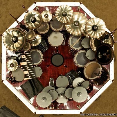 neil peart rush drum kit