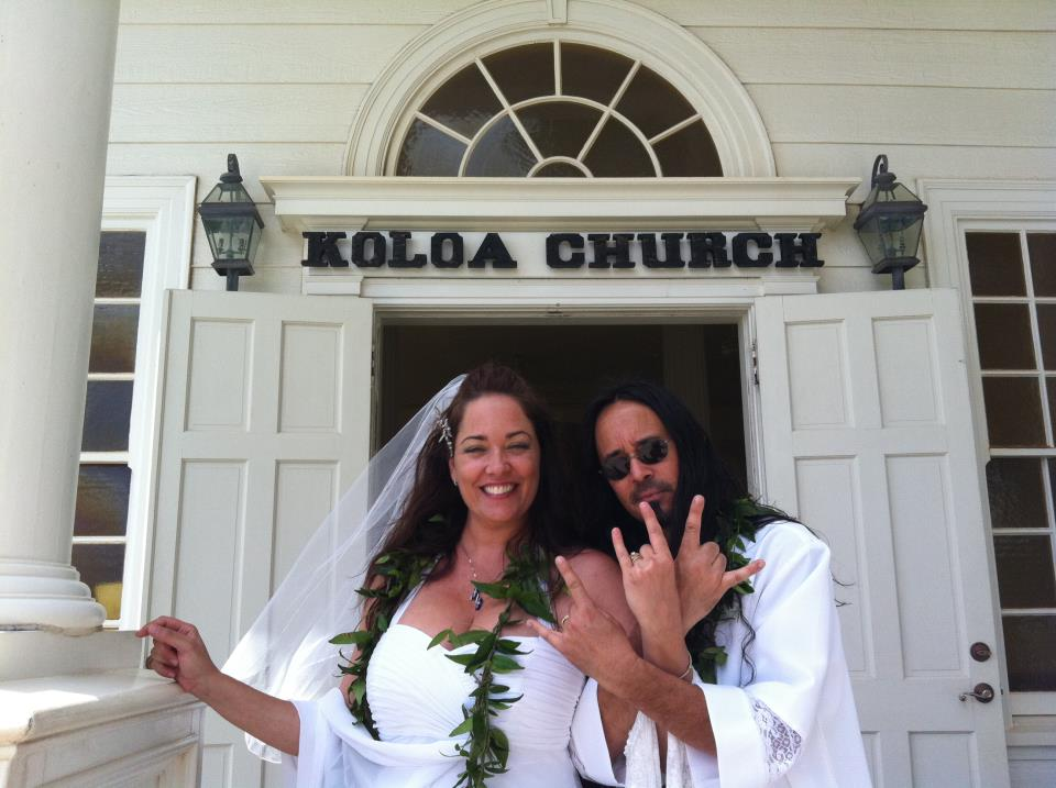milena koloa church wedding