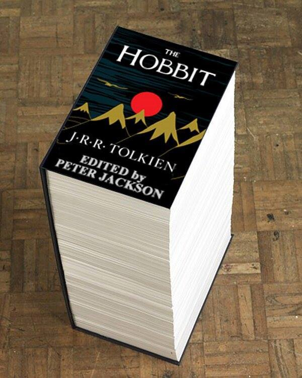 peter jackson's hobbit novel edited