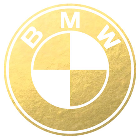 BMW gold and white