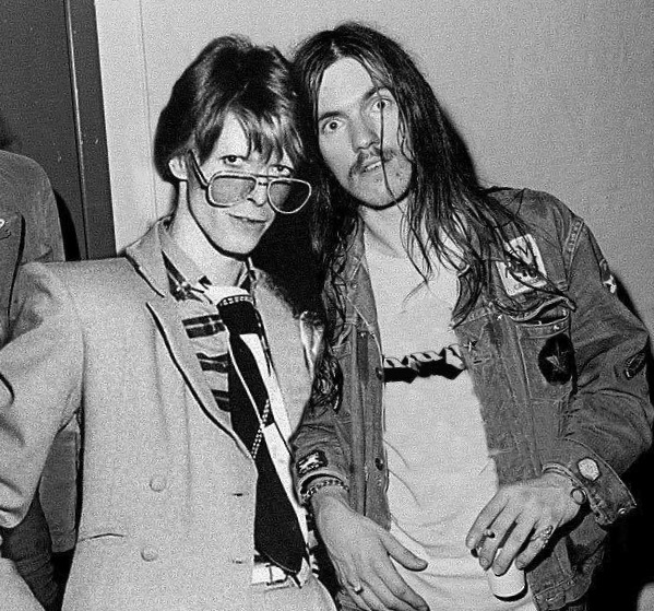David Bowie and Lemmy Kilmister Motorhead