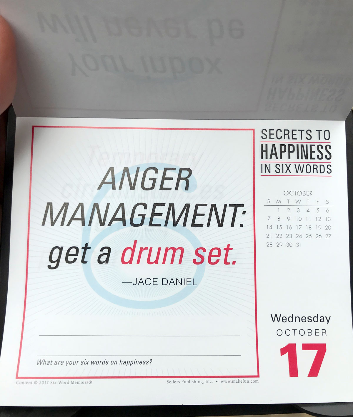 ANGER MANAGEMENT: Get a drum set