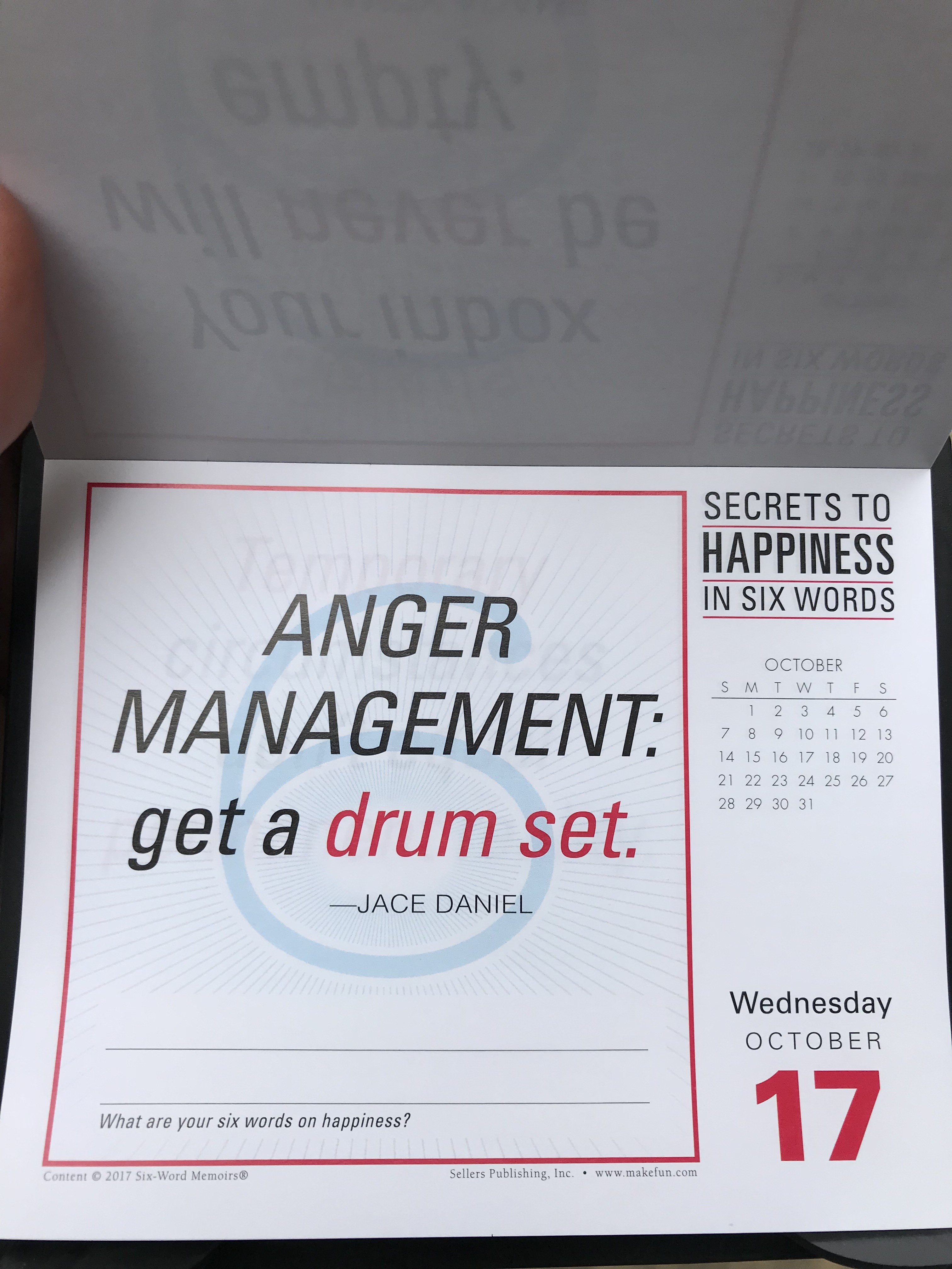 ANGER MANAGEMENT: Get a drum set